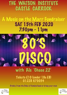 80s Disco - The Watson Institute - Sat February 15th - please dance
