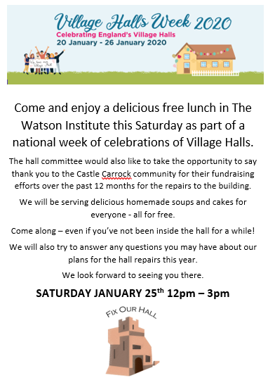 Open Day free lunch - The Watson Institute - Saturday January 25th